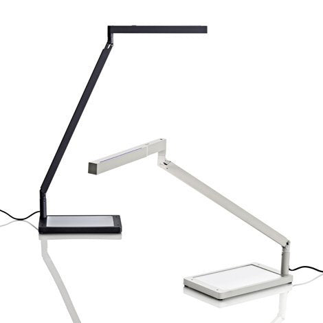 luceplan bap led iconic table lamp - 2 lamps black and white | shop online ikonitaly