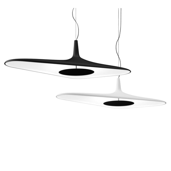 luceplan soleil noir suspension lamp - black and white | shop online ikonitaly
