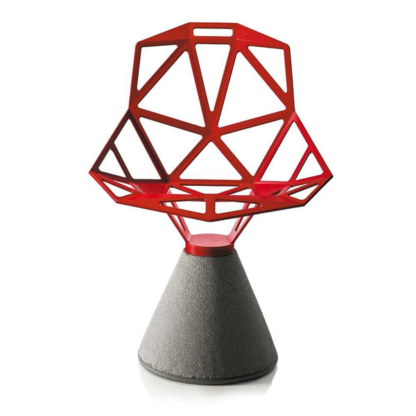 magis chair one (concrete base) red - designer kostantin grcic | shop online ikonitaly