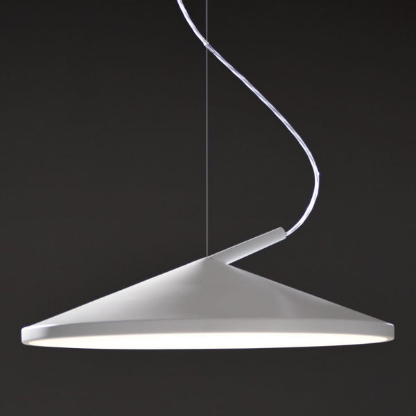 martinelli cone hanging lamp - white | ikonitaly