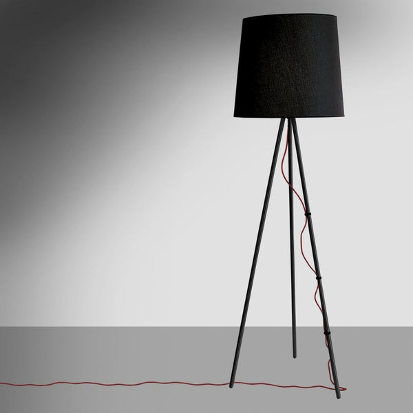 martinelli eva floor lamp - black fabric | ikonitaly