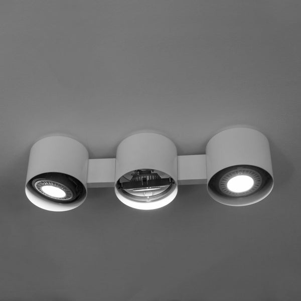 martinelli eye ceiling lamp - three lights all white | ikonitaly