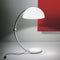 martinelli serpente iconic floor lamp - white on desk | ikonitaly