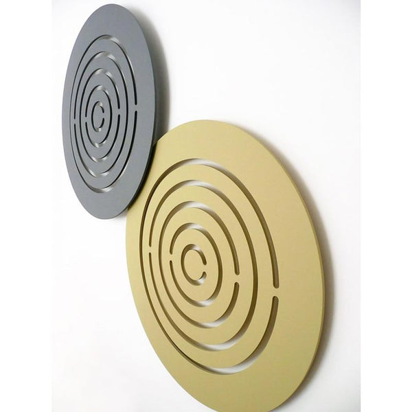 minimaproject maze 3d wall art, two sculptures light wood and grey | ikonitaly