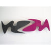 minimaproject shark attack 3d wall art sculpture, fucsia and black | ikonitaly