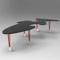 minimaproject shark table grey matt red legs | designer luke orsetti | shop online ikonitaly