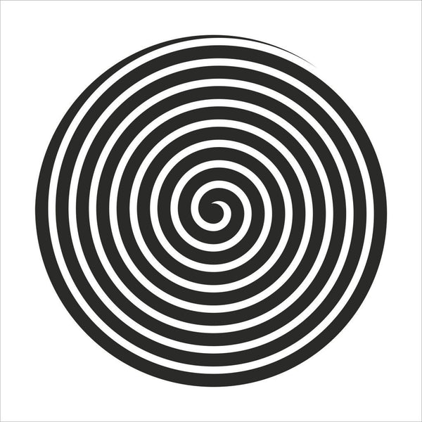 minimaproject spiral 3d wall art sculpture, design in black | ikonitaly
