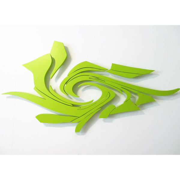 minimaproject supernova 3d wall art, acid green | ikonitaly