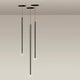 nemo canna nuda metallo minimal suspension lamp