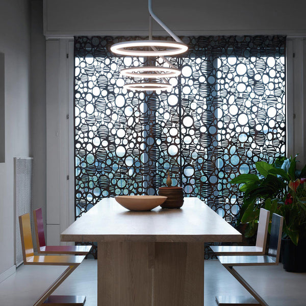 nemo giò pendant led suspension lamp white over table - designer angeletti ruzza | shop online ikonitaly