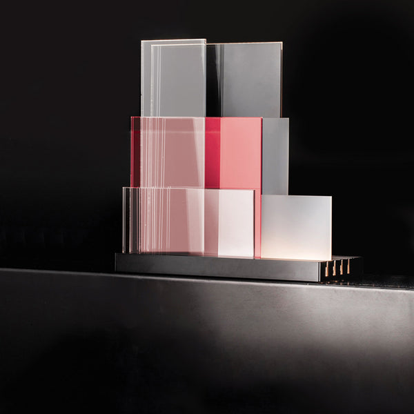 nemo on lines nouvel white and red table led lamp | ikonitaly
