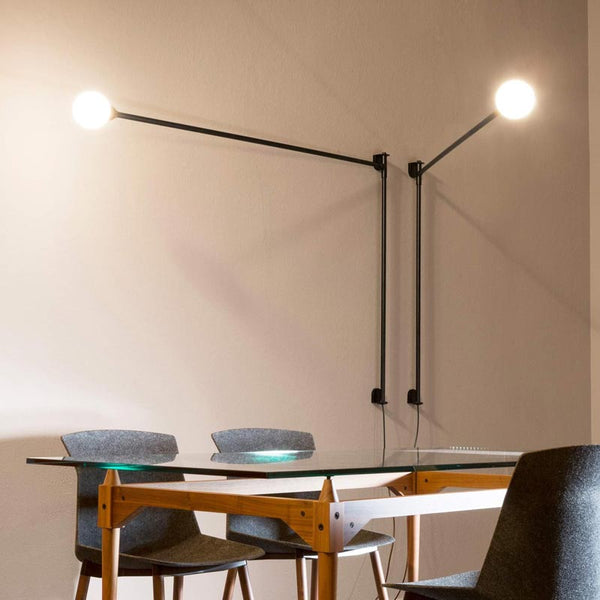 nemo potence pivotante wall lamp two black - designer charlotte perriand | shop online ikonitaly