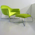 poliform bali pistacchio green armchair with footrest | ikonitaly