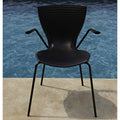 slide gloria chair for outdoors - mocha by the pool | shop online ikonitaly
