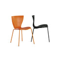 slide gloria chair for outdoors - orange&black | shop online ikonitaly