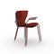 slide gloria chair for outdoors - red&black | shop online ikonitaly