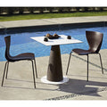 slide gloria chair for outdoors - two mocha chairs by the pool | shop online ikonitaly