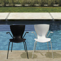 slide gloria chair for outdoors - white&black by the pool | shop online ikonitaly