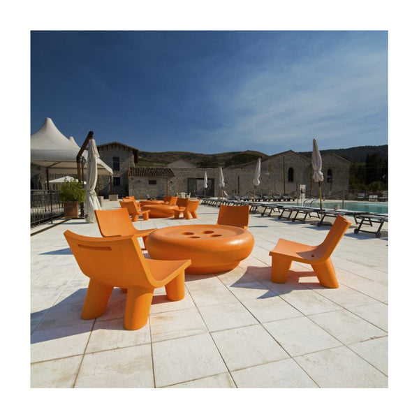 slide low lita lounge chair for outdoors - orange | shop online ikonitaly