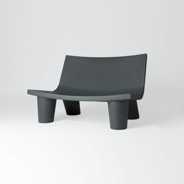 slide low lita love sofa for outdoors - grey | shop online ikonitaly