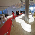 slide snake luminous bench white with red carpet | ikonitaly