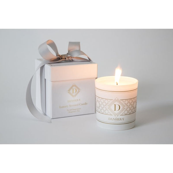 danhera white scented candle - emperor's tea