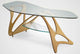 zanotta arabesco natural oak wood coffee table