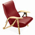 zanotta gilda red lounge chair | shop online ikonitaly