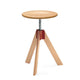 zanotta 250 giotto swivel stool in natural beech