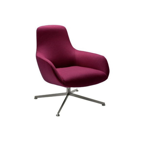 zanotta kent 895 lounge chair bordeaux | shop online ikonitaly