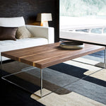 zanotta oliver wood coffee table