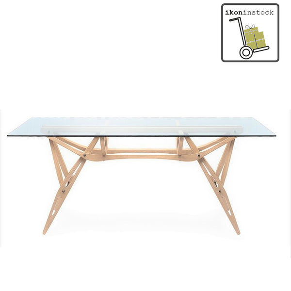 ikoninstock | zanotta reale table with glass top | shop online ikonitaly
