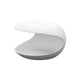 zanotta white shell contemporary side table