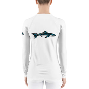 Plastic is the real Killer Women's Rash Guard (for swimming and diving and working out) ***Covid update: Some items might ship in recycled plastic***If so: Please Reuse***