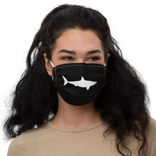 White Shark Black mask.  Matches everything. Premium face mask