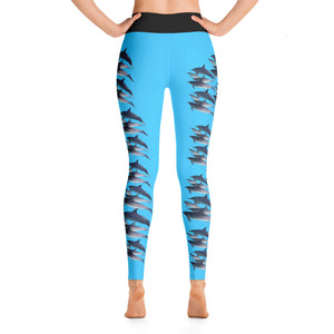 Dolphin Party Full length Yoga Leggings