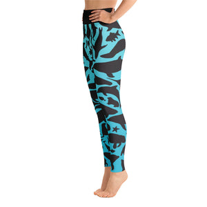 Silhouette Sea Creature Yoga Leggings