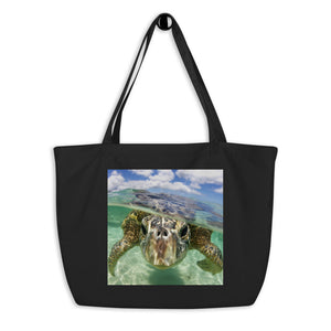 Save The Sea Turtles International Large organic tote bag