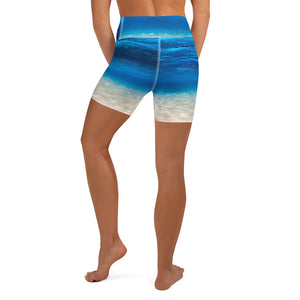 Underwater beach Paradise Yoga Shorts