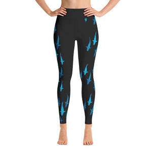 Blue Lady Shark Yoga Leggings