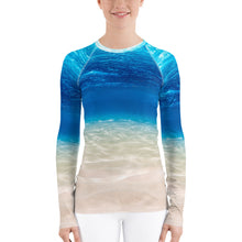 Underwater Beach Paradise Women's Rash Guard