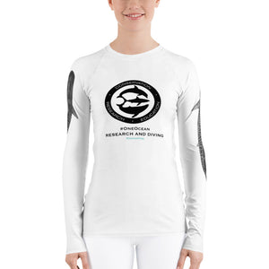 Women's Shark research team One Ocean Rash Guard