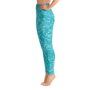 Summer Sea Life Yoga Leggings