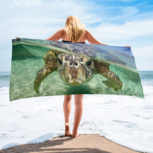 Curious Turtle Towel