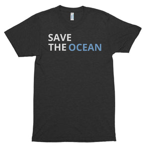 SAVE THE OCEAN FRONT #ONE OCEAN BACK Short sleeve soft t-shirt