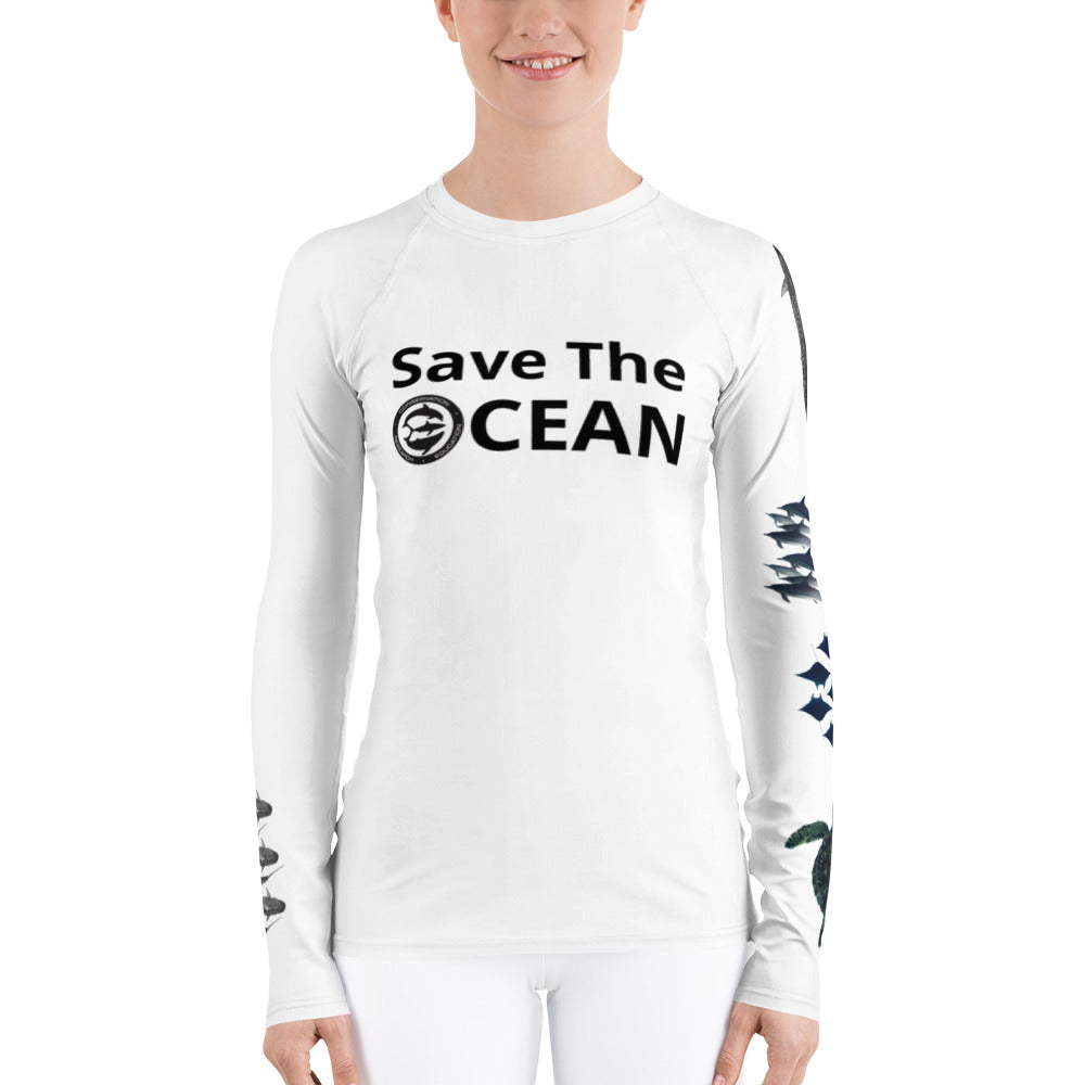 Save The Ocean, One Ocean Conservation Women's Rash Guard