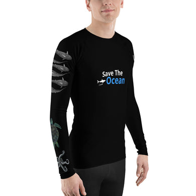 Save the Ocean Sea Life shark Rash Guard