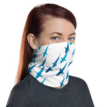 Galapagos Sharks Schooling White Face Shield Neck Gaiter