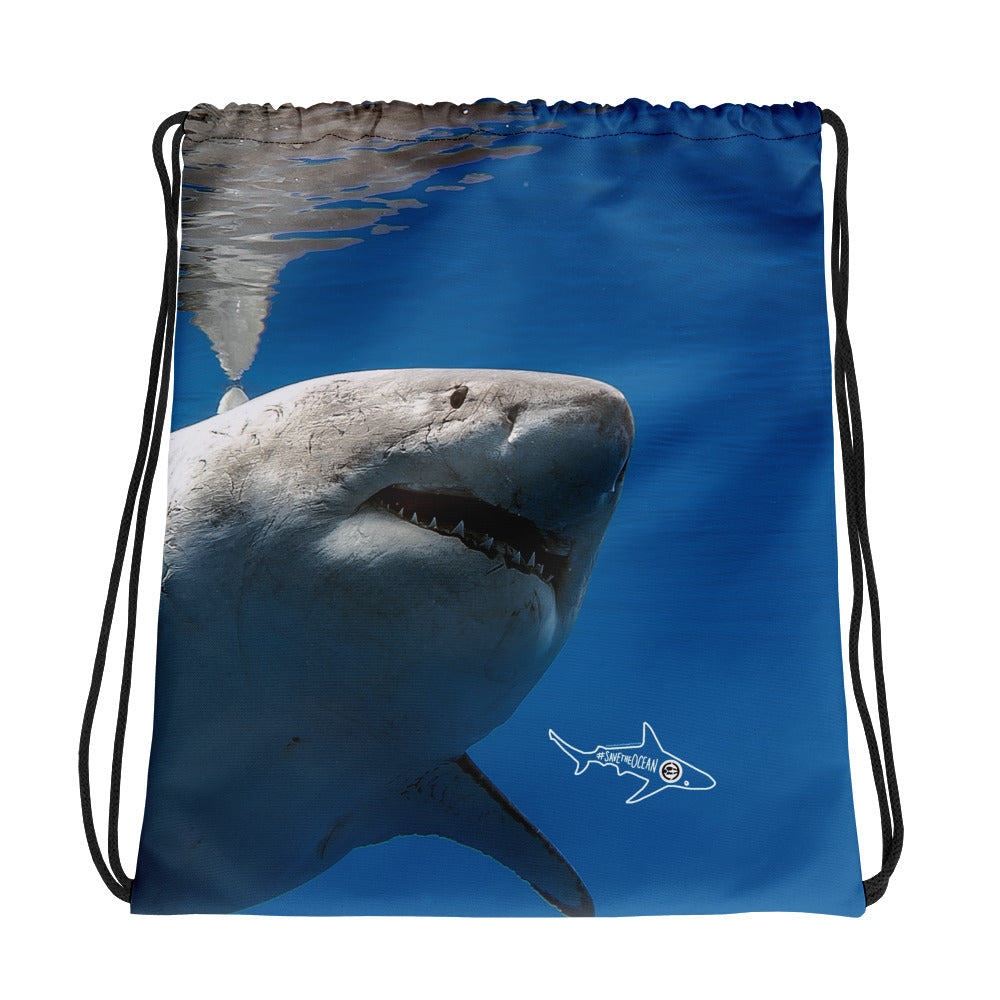 Great White Drawstring bag