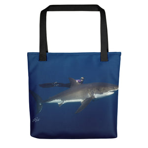 Bella the Great White Tote bag